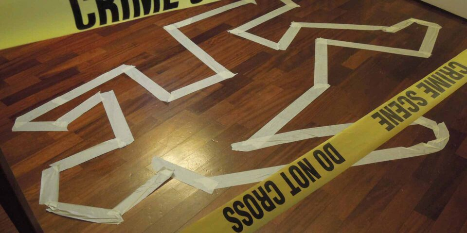team building crime scene